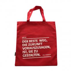Rote Tragetasche Mit Willy Brandt Zitat Spd Shopde