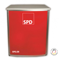 SPD Promotiontheke Aluminium in Rot
