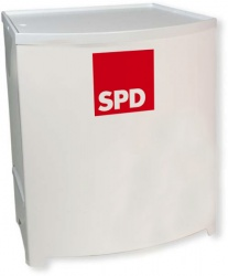 SPD Promotiontheke in Weiss